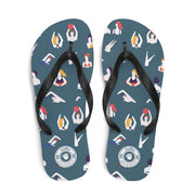 Wet & Wild Fun Multi-colored Flip-Flops S,M,L from %store_name% at 18.95 USD