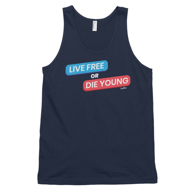 Live Free Or Die Young Classic Tank Top (Unisex) Black,XS,Black,S,Black,M,Black,L,Black,XL,Asphalt,XS,Asphalt,S,Asphalt,M,Asphalt,L,Asphalt,XL,Navy,XS,Navy,S,Navy,M,Navy,L,Navy,XL from %store_name% at 24.95 USD