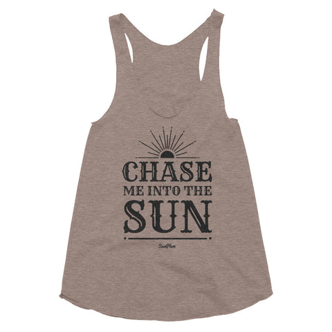 Chase Me Into The Sun Women's Tri-Blend Racerback Tank