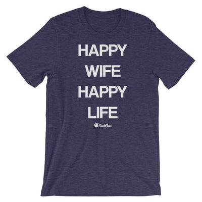 Happy Wife Happy Life Short-Sleeve Unisex T-Shirt Black,S,Black,M,Black,L,Black,XL,Black,2XL,Black,3XL,Black Heather,S,Black Heather,M,Black Heather,L,Black Heather,XL,Black Heather,2XL,Black Heather,3XL,Heather Forest,S,Heather Forest,M,Heather Forest,L,Heather Forest,XL,Heather Forest,2XL,Heather Forest,3XL,Heather Midnight Navy,S,Heather Midnight Navy,M,Heather Midnight Navy,L,Heather Midnight Navy,XL,Heather Midnight Navy,2XL,Heather Midnight Navy,3XL,Forest,S,Forest,M,Forest,L,Forest,XL,Forest,2XL,Fore