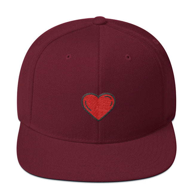 Just Love Snapback Hat Black/ Red,Black,Dark Grey,Dark Navy,Navy,Spruce,Heather/Black,Heather Grey,Silver,Royal Blue,Maroon from %store_name% at 25.00 USD