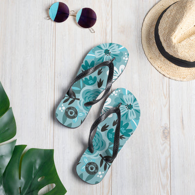 Summer Beach Blue Multi-colored Flip-Flops S,M,L from %store_name% at 18.95 USD