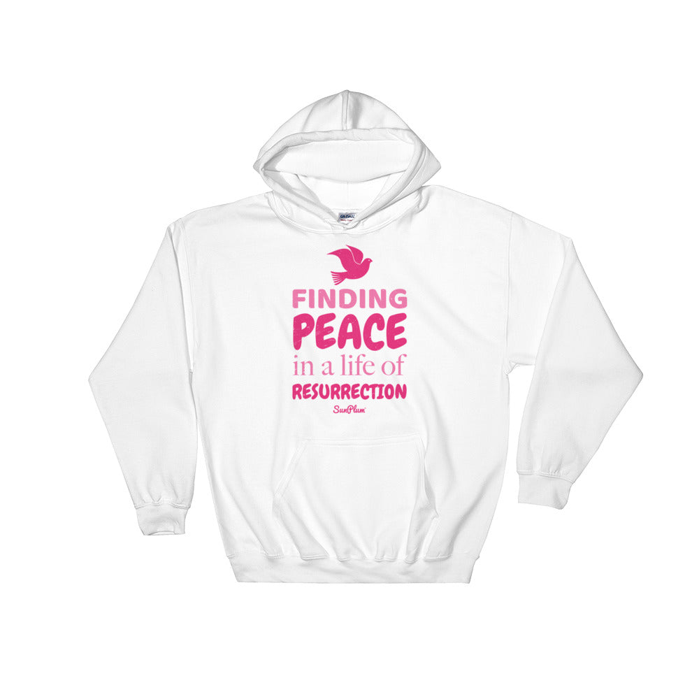 Finding Peace in a Life of Resurrection Hooded Sweatshirt White,S,White,M,White,L,White,XL,White,2XL,White,3XL,White,4XL,White,5XL,Black,S,Black,M,Black,L,Black,XL,Black,2XL,Black,3XL,Black,4XL,Black,5XL,Navy,S,Navy,M,Navy,L,Navy,XL,Navy,2XL,Navy,3XL,Navy,4XL,Navy,5XL,Sport Grey,S,Sport Grey,M,Sport Grey,L,Sport Grey,XL,Sport Grey,2XL,Sport Grey,3XL,Sport Grey,4XL,Sport Grey,5XL from %store_name% at 36.95 USD