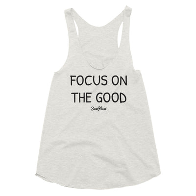Focus on the Good Womens Tri-Blend Racerback Tank Tri-Oatmeal,XS,Tri-Oatmeal,S,Tri-Oatmeal,M,Tri-Oatmeal,L,Athletic Blue,XS,Athletic Blue,S,Athletic Blue,M,Athletic Blue,L from %store_name% at 24.95 USD