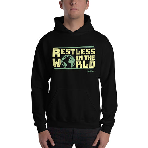 Restless In the World Hooded Sweatshirt 1550945 $34.95 $34.95 $44.95 Apparel, Black, Clothing, Fashion, feed-agegroup-adult, feed-gender-unisex, feed-gpc-1604, feed-gpc-212, GHD, Hoodies, Men, Unisex, Women SunPlum Color Black Size S SunPlum