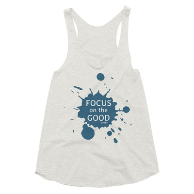 Focus on the Good Womens Tri-Blend Racerback Tank XS,S,M,L from %store_name% at 24.95 USD