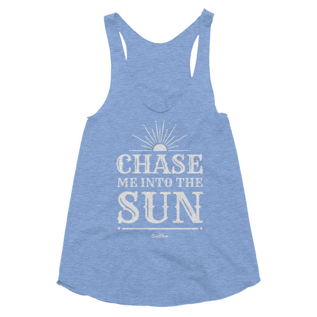 Chase Me Into The Sun Womens Tri-Blend Racerback Tank Tri-Black,XS,Tri-Black,S,Tri-Black,M,Tri-Black,L,Tri-Coffee,XS,Tri-Coffee,S,Tri-Coffee,M,Tri-Coffee,L,Athletic Blue,XS,Athletic Blue,S,Athletic Blue,M,Athletic Blue,L from %store_name% at 24.95 USD