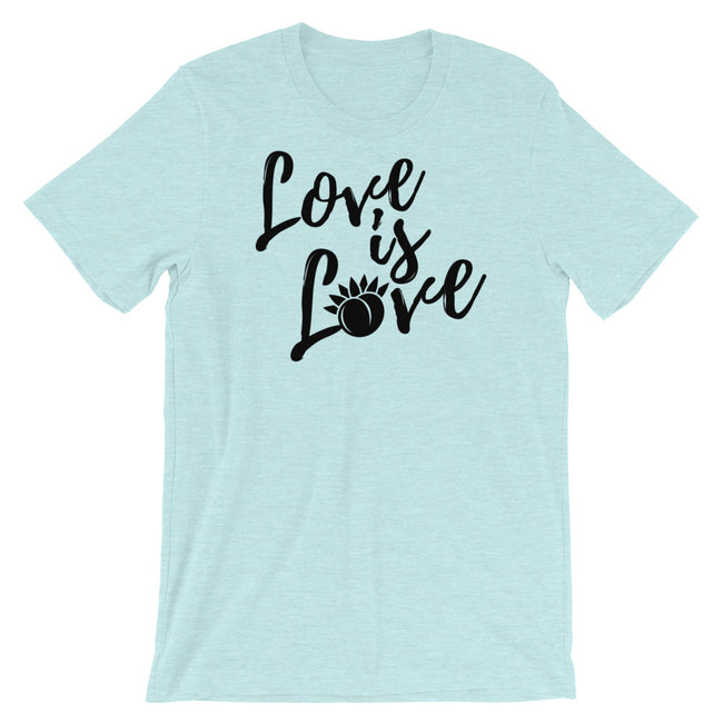 Love is Love Short-Sleeve Unisex T-Shirt White,S,White,M,White,L,White,XL,White,2XL,White,3XL,Athletic Heather,S,Athletic Heather,M,Athletic Heather,L,Athletic Heather,XL,Athletic Heather,2XL,Athletic Heather,3XL,Soft Cream,S,Soft Cream,M,Soft Cream,L,Soft Cream,XL,Soft Cream,2XL,Soft Cream,3XL,Ash,S,Ash,M,Ash,L,Ash,XL,Ash,2XL,Heather Blue,S,Heather Blue,M,Heather Blue,L,Heather Blue,XL,Heather Blue,2XL,Heather Blue,3XL,Heather Prism Peach,S,Heather Prism Peach,M,Heather Prism Peach,L,Heather Prism Peach,XL