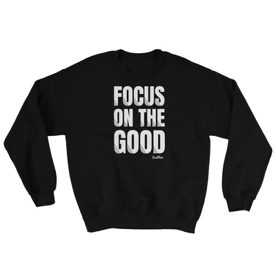 Focus On The Good Sweatshirt Black,S,Black,M,Black,L,Black,XL,Black,2XL,Navy,S,Navy,M,Navy,L,Navy,XL,Navy,2XL,Indigo Blue,S,Indigo Blue,M,Indigo Blue,L,Indigo Blue,XL,Indigo Blue,2XL,Maroon,S,Maroon,M,Maroon,L,Maroon,XL,Maroon,2XL,Red,S,Red,M,Red,L,Red,XL,Red,2XL from %store_name% at 34.99 USD