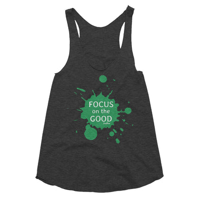 Focus on the Good Womens Tri-Blend Racerback Tank Tri-Black,XS,Tri-Black,S,Tri-Black,M,Tri-Black,L,Tri-Oatmeal,XS,Tri-Oatmeal,S,Tri-Oatmeal,M,Tri-Oatmeal,L from %store_name% at 24.95 USD