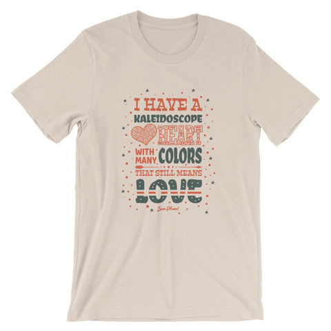 I Have A Kaleidoscope Heart Short-Sleeve Unisex T-Shirt White,XS,White,S,White,M,White,L,White,XL,White,2XL,White,3XL,Athletic Heather,S,Athletic Heather,M,Athletic Heather,L,Athletic Heather,XL,Athletic Heather,2XL,Athletic Heather,3XL,Silver,S,Silver,M,Silver,L,Silver,XL,Silver,2XL,Soft Cream,S,Soft Cream,M,Soft Cream,L,Soft Cream,XL,Soft Cream,2XL,Soft Cream,3XL,Heather Prism Dusty Blue,XS,Heather Prism Dusty Blue,S,Heather Prism Dusty Blue,M,Heather Prism Dusty Blue,L,Heather Prism Dusty Blue,XL,Heather
