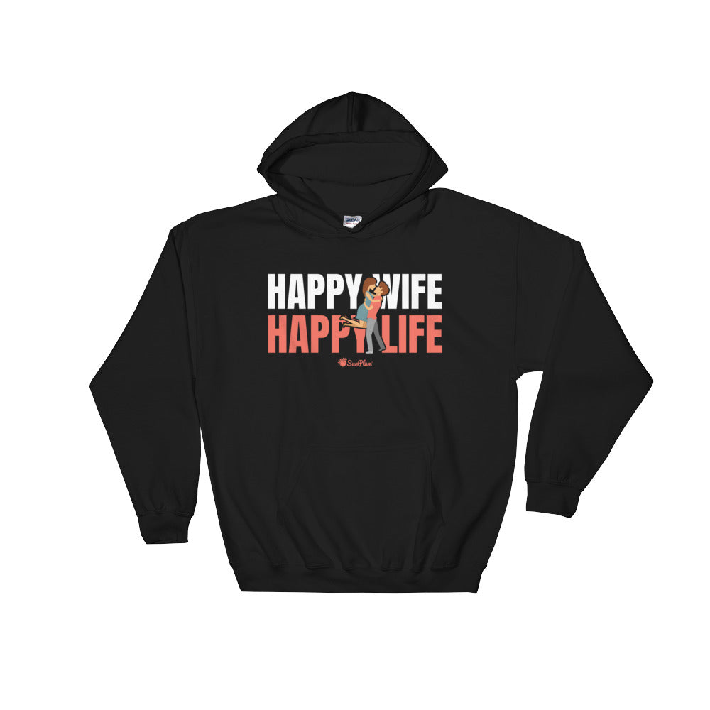 Happy Wife Happy Life Hooded Sweatshirt Black,S,Black,M,Black,L,Black,XL,Black,2XL,Black,3XL,Black,4XL,Black,5XL,Navy,S,Navy,M,Navy,L,Navy,XL,Navy,2XL,Navy,3XL,Navy,4XL,Navy,5XL from %store_name% at 36.95 USD