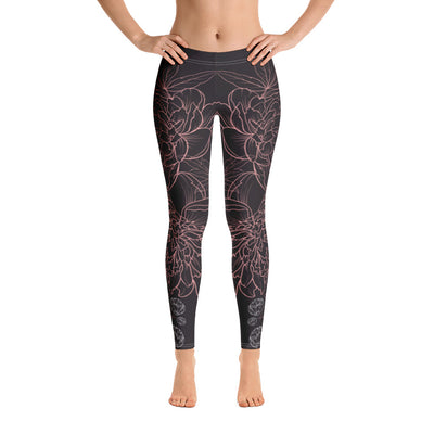 Flower Power Gentle Wind Comfortable Flexible Printed Leggings XS,S,M,L,XL from %store_name% at 49.30 USD