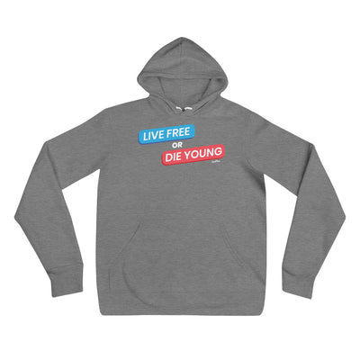 Live Free or Die Young Unisex Hoodie Black,S,Black,M,Black,L,Black,XL,Black,2XL,Deep Heather,S,Deep Heather,M,Deep Heather,L,Deep Heather,XL,Deep Heather,2XL from %store_name% at 39.99 USD