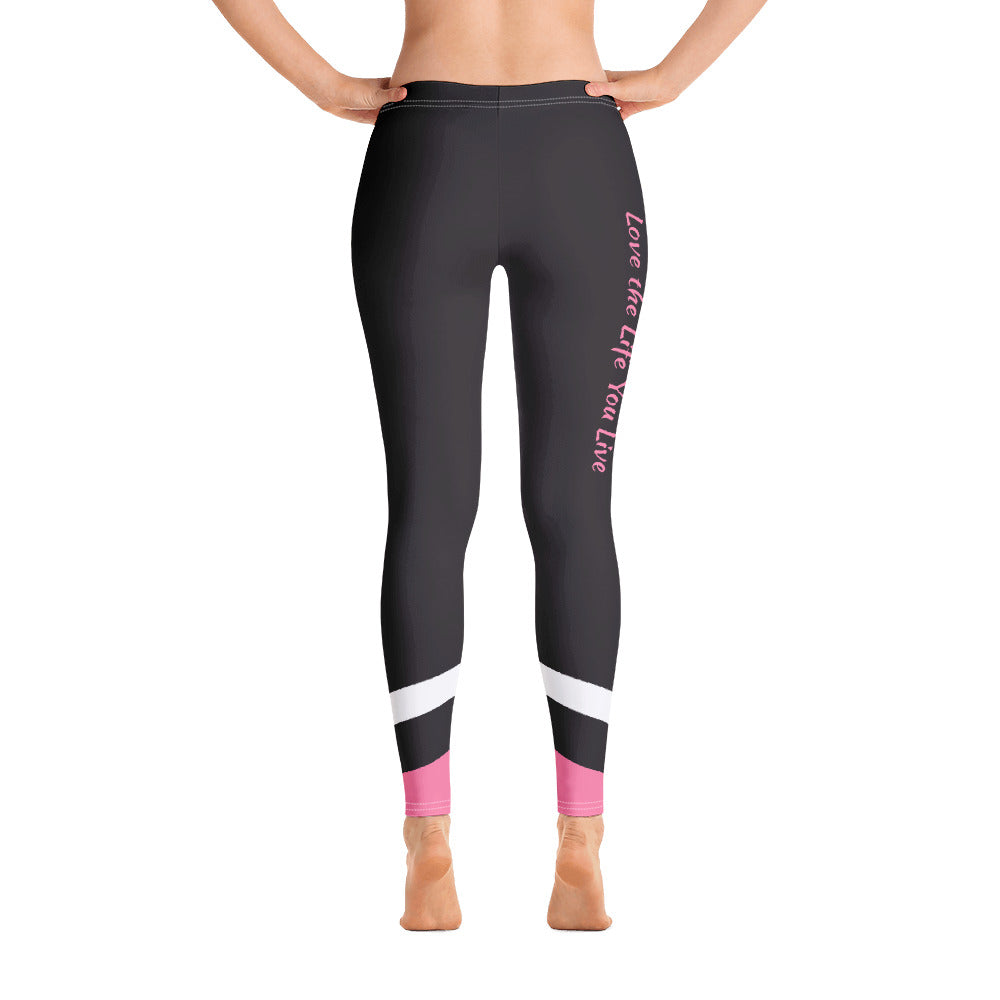 Live The Life You Love Pink Promise Comfortable Printed Leggings XS,S,M,L,XL from %store_name% at 49.95 USD