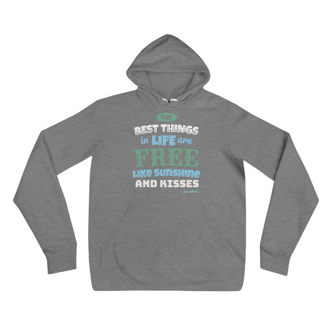 The Best Things In Life Unisex Hoodie Black,S,Black,M,Black,L,Black,XL,Black,2XL,Deep Heather,S,Deep Heather,M,Deep Heather,L,Deep Heather,XL,Deep Heather,2XL from %store_name% at 39.99 USD