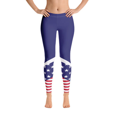 Thin Blue Line Women Leggings - American Flag Leggings 4th of July Red White Blue Yoga leggings USA Flag leggings Yoga Pants Custom Handmade Comfortable Printed Legging XS,S,M,L,XL from %store_name% at 49.95 USD