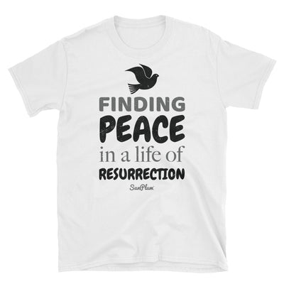 Finding Peace In A Life Of Resurrection Unisex Softstyle T-Shirt White,S,White,M,White,L,White,XL,White,2XL,White,3XL,Sport Grey,S,Sport Grey,M,Sport Grey,L,Sport Grey,XL,Sport Grey,2XL,Sport Grey,3XL from %store_name% at 24.00 USD