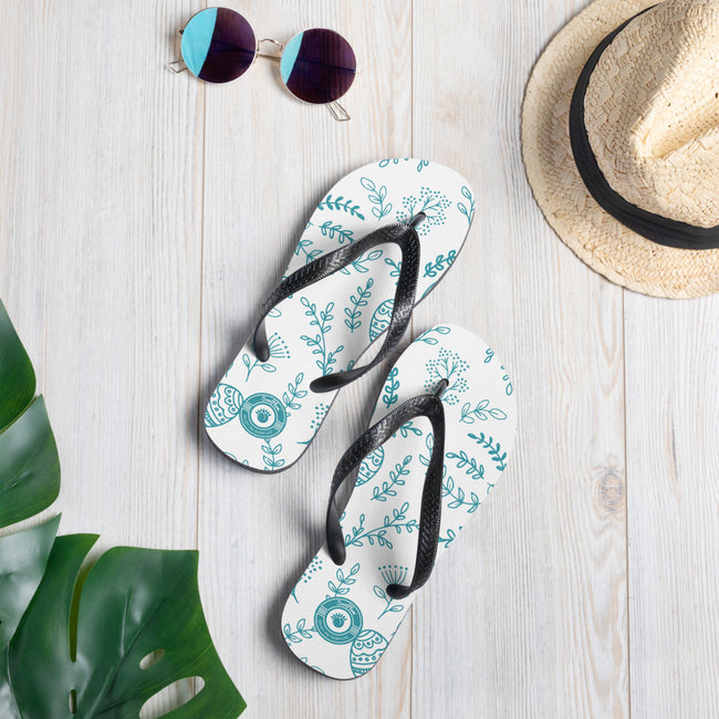 Cool White & Blue Breeze Multi-colored Flip-Flops S,M,L from %store_name% at 18.95 USD