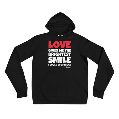 Love Gives Me The Brightest Smile I Could Ever Wear Unisex Hoodie S,M,L,XL,2XL from %store_name% at 39.99 USD