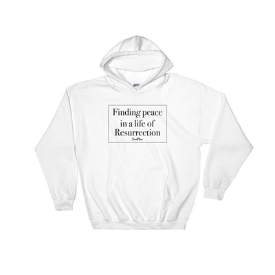 Finding Peace in a Life of Resurrection Hooded Sweatshirt White,S,White,M,White,L,White,XL,White,2XL,White,3XL,White,4XL,White,5XL,Sport Grey,S,Sport Grey,M,Sport Grey,L,Sport Grey,XL,Sport Grey,2XL,Sport Grey,3XL,Sport Grey,4XL,Sport Grey,5XL from %store_name% at 36.95 USD