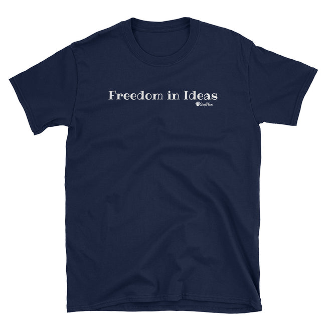 Freedom In Ideas Unisex Softstyle T-Shirt Black,S,Black,M,Black,L,Black,XL,Black,2XL,Black,3XL,Navy,S,Navy,M,Navy,L,Navy,XL,Navy,2XL,Navy,3XL from %store_name% at 24.00 USD