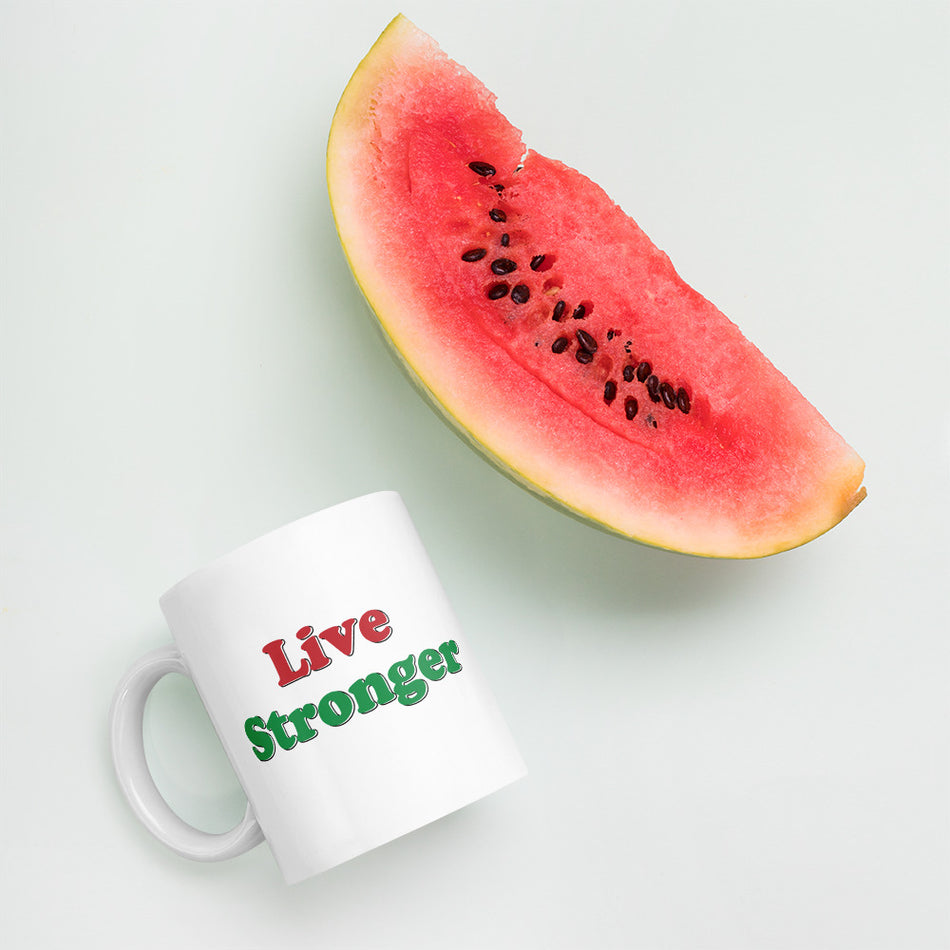 Live Stronger Lifestyle Coffee Mug 11oz,15oz from %store_name% at 11.00 USD