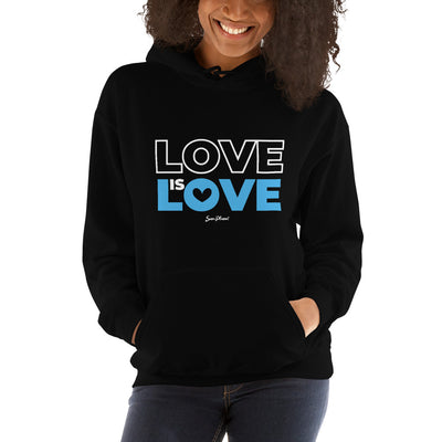 Love is Love Hooded Sweatshirt (No-Zip/Pullover) S,M,L,XL,2XL,3XL,4XL,5XL from %store_name% at 36.95 USD