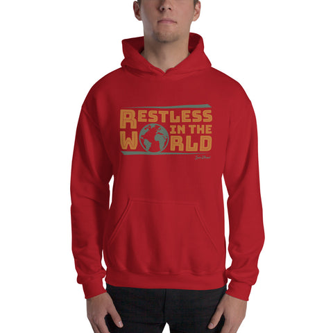 Restless In the World Hooded Sweatshirt White,S,White,M,White,L,White,XL,White,2XL,White,3XL,White,4XL,White,5XL,Sport Grey,S,Sport Grey,M,Sport Grey,L,Sport Grey,XL,Sport Grey,2XL,Sport Grey,3XL,Sport Grey,4XL,Sport Grey,5XL,Red,S,Red,M,Red,L,Red,XL,Red,2XL,Red,3XL,Red,4XL,Red,5XL from %store_name% at 36.95 USD
