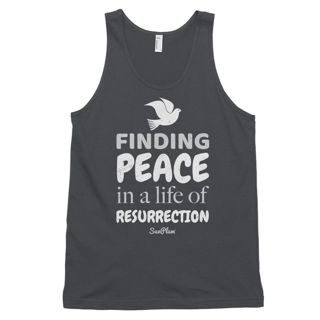 Finding Peace in a Life of Resurrection Classic Tank Top (Unisex) Black,XS,Black,S,Black,M,Black,L,Black,XL,Asphalt,XS,Asphalt,S,Asphalt,M,Asphalt,L,Asphalt,XL,Navy,XS,Navy,S,Navy,M,Navy,L,Navy,XL from %store_name% at 24.95 USD