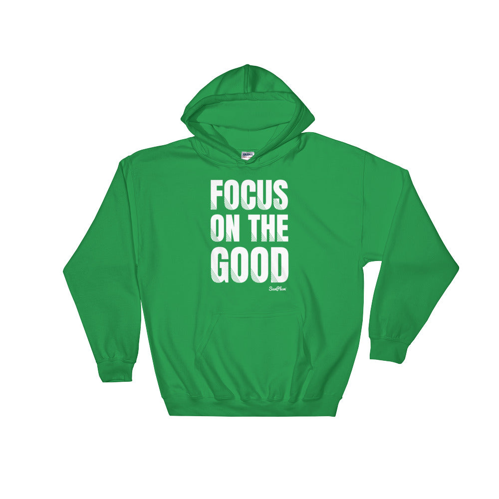 Focus on the Good Hooded Sweatshirt Black,S,Black,M,Black,L,Black,XL,Black,2XL,Navy,S,Navy,M,Navy,L,Navy,XL,Navy,2XL,Indigo Blue,S,Indigo Blue,M,Indigo Blue,L,Indigo Blue,XL,Indigo Blue,2XL,Irish Green,S,Irish Green,M,Irish Green,L,Irish Green,XL,Irish Green,2XL,Maroon,S,Maroon,M,Maroon,L,Maroon,XL,Maroon,2XL,Red,S,Red,M,Red,L,Red,XL,Red,2XL from %store_name% at 36.95 USD