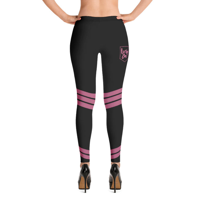 Lucky One Pop Star Black & Pink Comfortable Printed Leggings XS,S,M,L,XL from %store_name% at 49.95 USD