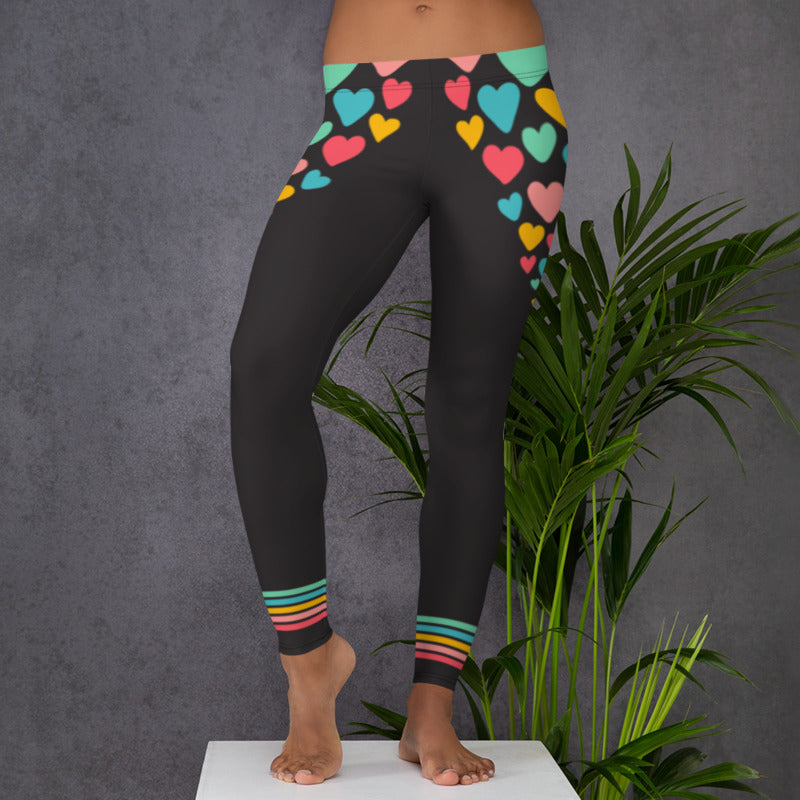 Live The Life You Love I Heart You Comfortable Printed Leggings XS,S,M,L,XL from %store_name% at 49.95 USD