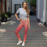 Fire Power Red Sun Comfortable Flexible Printed Leggings XS,S,M,L,XL from %store_name% at 49.30 USD