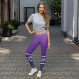 Lucky One Crazy Purple Power Comfortable Printed Leggings XS,S,M,L,XL from %store_name% at 49.95 USD