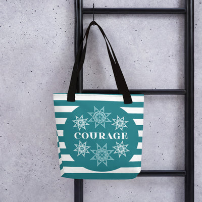 Zen Courage Stars Tote Bag Default Title from %store_name% at 28.00 USD