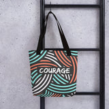 Zen Courage Firebrand Tote Bag Default Title from %store_name% at 28.00 USD