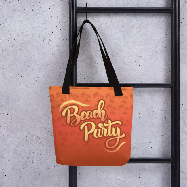 Beach Party Sun Rises and Sunsets Tropics Tote Bag Default Title from %store_name% at 28.00 USD