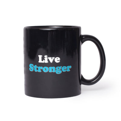 Live Stronger Lifestyle Black Coffee Mug 11 oz,15 oz from %store_name% at 11.00 USD
