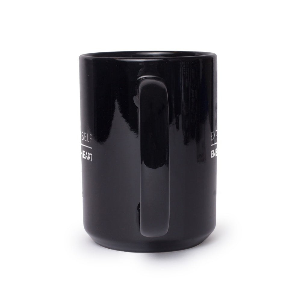 Express Yourself Embrace Your Heart Black Coffee Mug 11 oz,15 oz from %store_name% at 11.00 USD