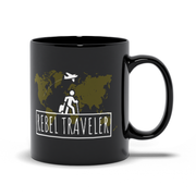 Black Glossy Coffee Printed Mug (Rebel Lifestyle Print)