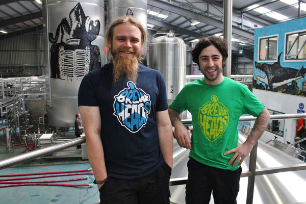 BrewDog Brewers wearing their BrewHeads T-shirts