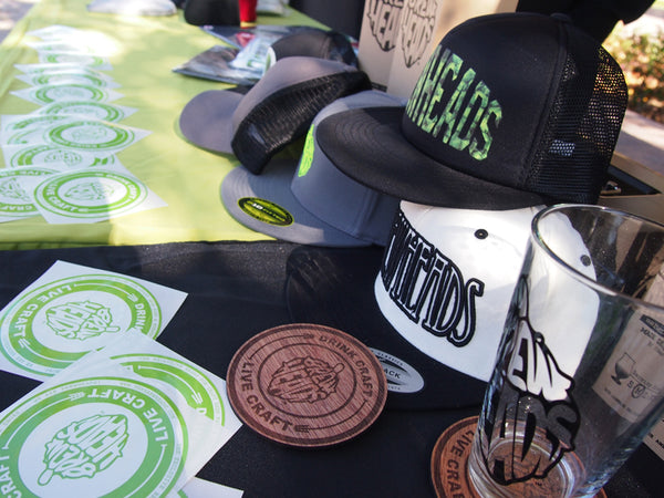 craftbeer apparel and headwear by BrewHeads. Limited Edition Wooden Coasters