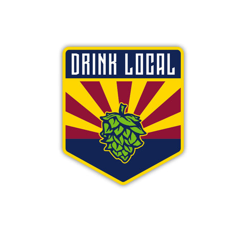 AZ Drink Local Sticker. Show your love for Arizona local craft beer with this sticker by BrewHeads
