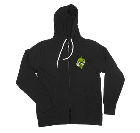 Live Hoppy Die Hoppy Zip hoodie for craftbeer lovers by BrewHeads