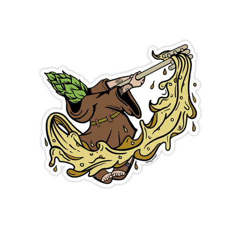 BrewHeads SD Friar Sticker