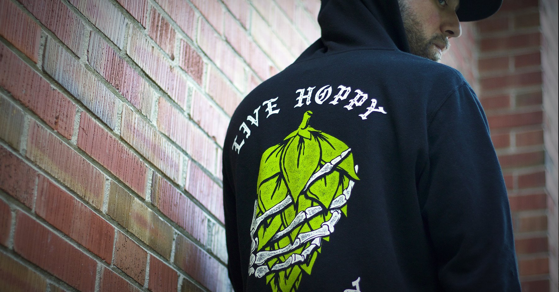 BrewHeads Live Hoppy Die Hoppy Craft Beer Hoodie for Craft beer fans