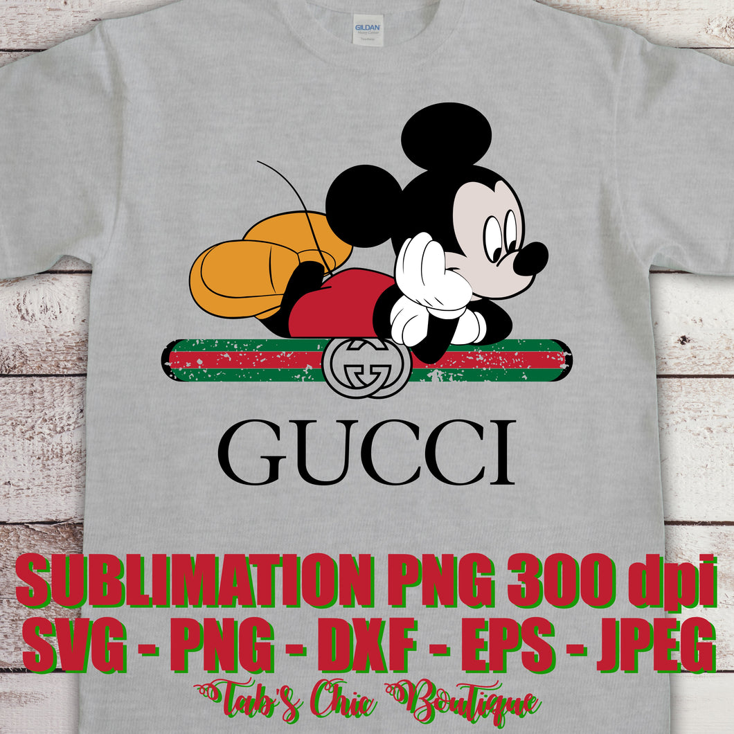 Distressed Mickey Mouse Gucci Logo Svg Jpeg Png Dxf Eps 300 Dpi Sublim Tab S Chic Boutique