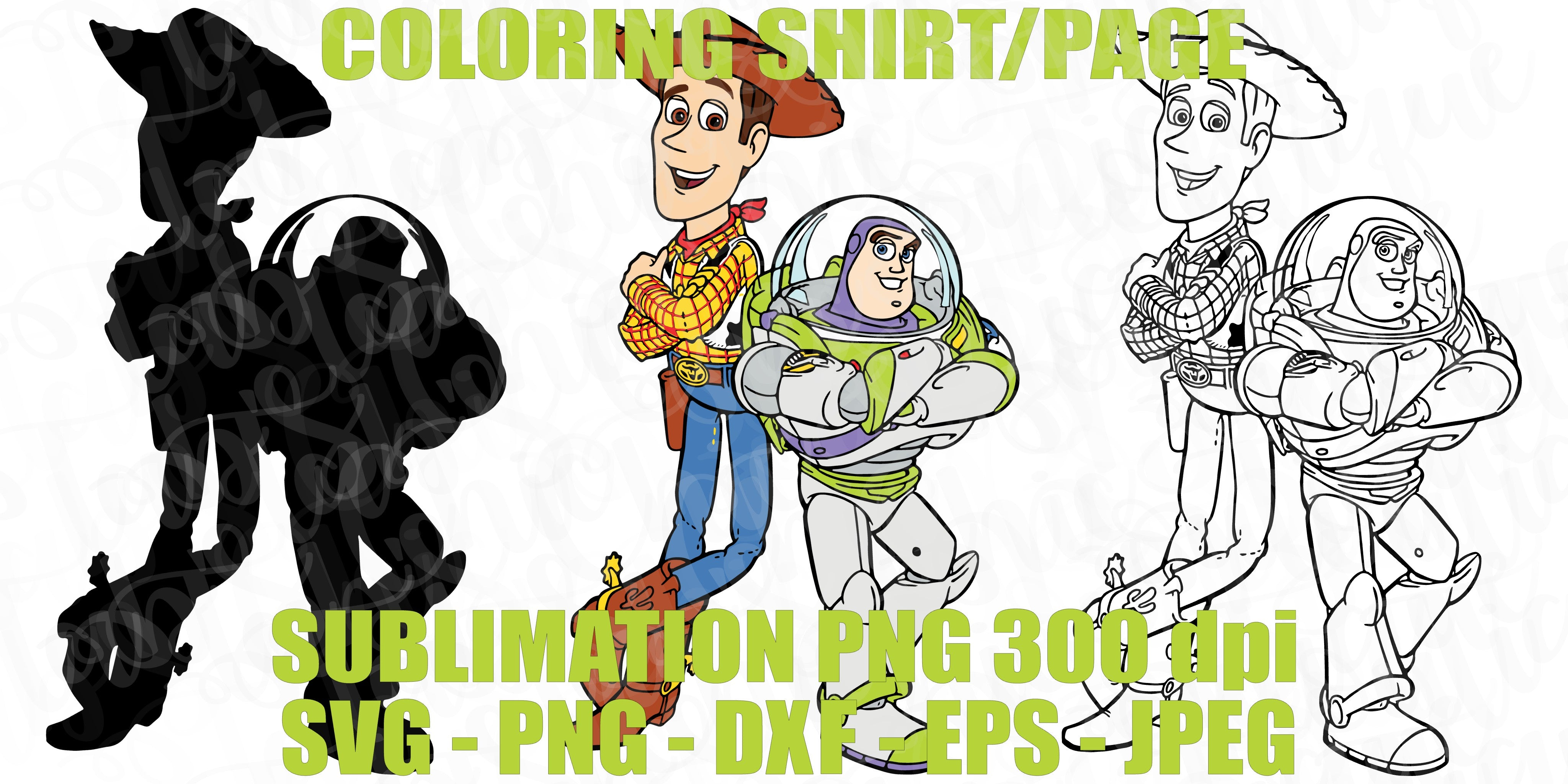 Woody And Buzz Lightyear Toy Story 4 Svg Jpeg High Def 300 Dpi Png Dxf Tab S Chic Boutique
