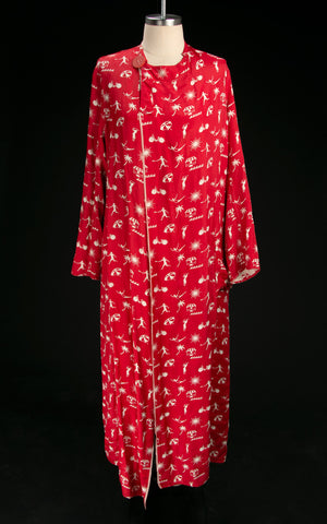 Early Vintage 1920's - 30's Reversible Beach Robe